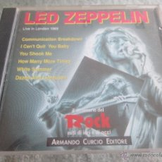 CDs de Música: LED ZEPPELIN. LIVE IN LONDON 1969. ARMANDO CURCIO EDITORE. DICCIONARIO DEL ROCK ITALIANO. Lote 54585223