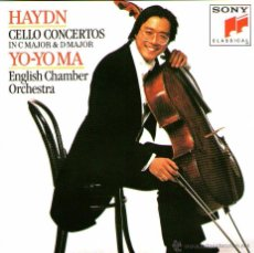 CDs de Música: JOSEPH HAYDN - CELLO CONCERTOS - VIOLONCHELO: YO-YO MA - SONY CLASSICAL 1993. Lote 54615018
