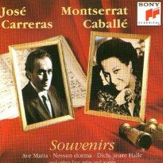 CDs de Música: JOSÉ CARRERAS Y MONTSERRAT CABALLÉ - SOUVENIRS - SONY CLASSICAL 1991. Lote 54615785