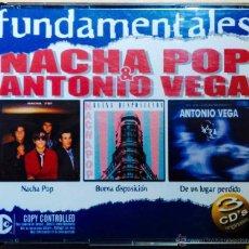 CDs de Música: NACHA POP & ANTONIO VEGA. FUNDAMENTALES. NACHA POP, BUENA DISPOSICIÓN, DE UN LUGAR PERDIDO. 3 CD'S. Lote 54631211