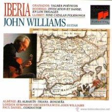 CDs de Música: IBERIA - GRANADOS, RODRIGO, LLOBET, ALBÉNIZ - GUITARRA: JOHN WILLIAMS - SONY CLASSICAL - AÑO 1992. Lote 54642415