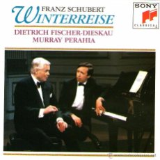 CDs de Música: FRANZ SCHUBERT - WINTERREISE - DIETER FISCHER-DIESKAU / MURRAY PERAHIA - CD - SONY CLASSICAL 1992.. Lote 54650346