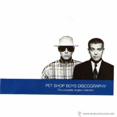 CDs de Música: PET SHOP BOYS DISCOGRAPHY - THE COMPLETE SINGLE COLLECTION - CD ALBUM 18 TRACKS - EMI RECORDS 1991. Lote 54724291
