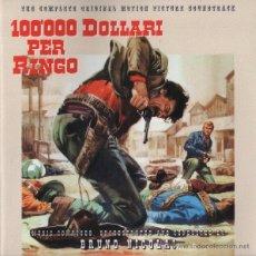 CDs de Música: 100.000 DOLLARI PER RINGO / BRUNO NICOLAI CD BSO. Lote 54728722