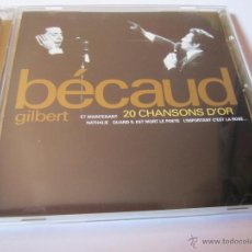 CDs de Música: CD GILBERT BECAUD 20 CHANSONS D'OR AÑO 1998 20 TEMAS. Lote 54826798