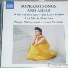 CDs de Música: CD SOPRANO SONGS AND ARIAS. ANA MARIA MARTINEZ. Lote 54838495