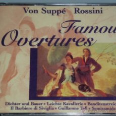 CDs de Música: DOBLE CD FAMOUS OVERTURES. VON SUPPE ROSSINI. Lote 54838516