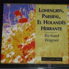 CDs de Música: CD EL HOLANDES ERRANTE. LOHENGRIN, PARSIFAL. RICHARD WAGNER. Lote 54838551