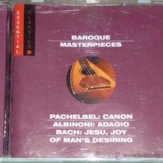 CDs de Música: CD BAROQUE MASTERPIECES. ESSENTIAL CLASSICS. Lote 54838635