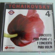 CDs de Música: CD TCHAIKOVSKY .CONCIETO PARA PIANO Nº 1 Y CONCIERTO PARA VIOLIN. CEPSA. Lote 54838930
