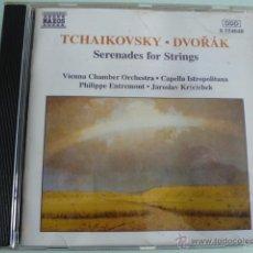 CDs de Música: CD TCHAIKOVSKY. DVORAK. SERENADE FOR STRINGS. NAXOS. Lote 54839004