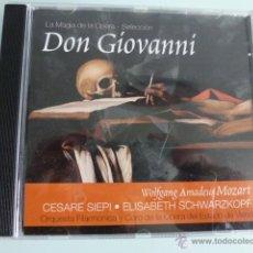 CDs de Música: CD DON GIOVANNI. MOZART .LA MAGIA DE LA OPERA. SELECCION. Lote 54839963