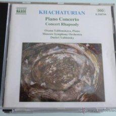 CDs de Música: CD KHACHATURIAN.NAXOS. Lote 54840466