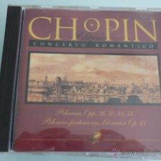 CDs de Música: CD CHOPIN.CONCERTO ROMANTICO. Lote 54840536