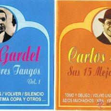CDs de Música: CARLOS GARDEL - SUS 15 MEJORES TANGOS. VOL. 1 + VOL. 2 - ASTRO 1997 (2 CDS). Lote 54840804
