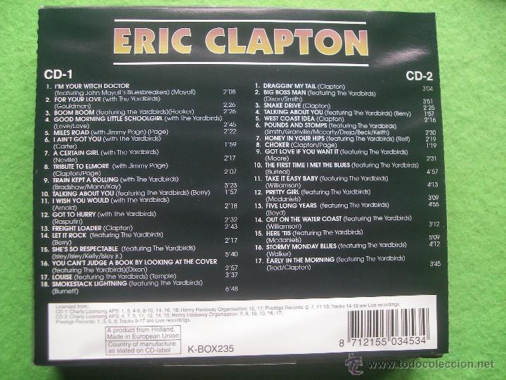 CDs de Música: DOBLE CD ERIC CLAPTON XBOX235B HOLANDA CONO NUEVO¡¡ PEPETO - Foto 2 - 54879012
