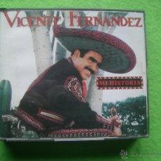 CDs de Música: VICENTE FERNANDEZ - MI HISTORIA - CAJA DOBLE 2CDS - BUEN ESTADO PEPETO. Lote 54879587