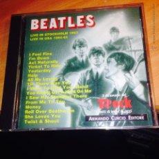 CDs de Música: THE BEATLES (LIVE IN STOCKHOLM 1963. IN USA 1964 65) CD 16 TRACKS IL DIZIONARIO DEL ROCK (CD26). Lote 54887404