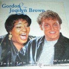 CDs de Música: GORDON & JOCELYN BROWN – JUST TOO BIG FOR WORDS - CDSINGLE. Lote 54938129