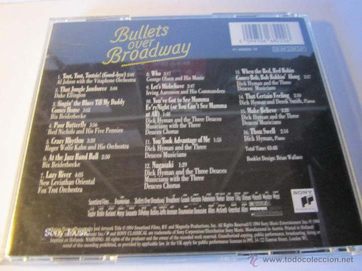 CDs de Música: cd banda sonora bullets over broadway balas sobre broadway año 1994 - Foto 3 - 54950279