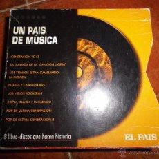 CDs de Música: UN PAIS DE MUSICA CAJA CON 8 LIBRO - DISCOS QUE HACEN HISTORIA CD ALASKA Y DINARAMA MECANO 8 CD RARO. Lote 54974430