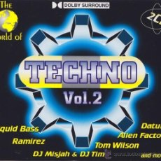 CDs de Música: VV. AA. - THE WORLD OF TECHNO VOL. 2 (2XCD, COMP). Lote 55018991