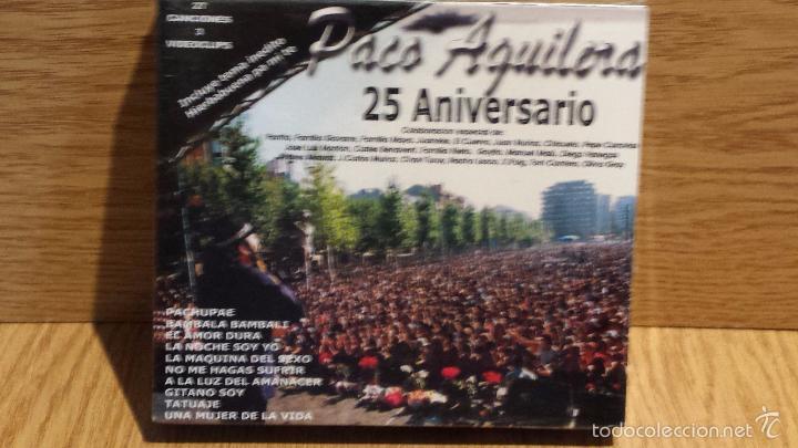 PACO AGUILERA. FOREVER / 25 ANIVERSARIO. PACK 2 CDS - 27 TEMAS + 3 VIDEOS / PRECINTADO. (Música - CD's Flamenco, Canción española y Cuplé)