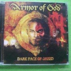 CDs de Música: ARMOR OF GOD DARK FACE OF GREED CD ALBUM HEAVY. NUEVO¡¡ PEPETO. Lote 55181803
