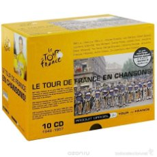 CDs de Música: LE TOUR DE FRANCE EN CHANSONS! * BOX SET 10 CD + LIBRO + KIT REPARACIÓN * CAJA PRECINTADA. Lote 194975885
