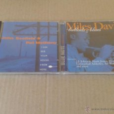 CDs de Música: LOTE CDS BLUE NOTE: BALLADS & BLUES DE MILES DAVIS / I CAN SEE YOUR HOUSE FROM HERE DE JOHN SCOFIELD. Lote 55350899