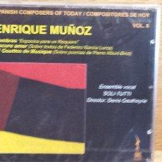 CDs de Música: ENRIQUE MUÑOZ. SPANISH COMPOSERS OF TODAY. SOMBRAS. ESPACIOS PARA UN REQUIEM / PRECINTADO.. Lote 55355690
