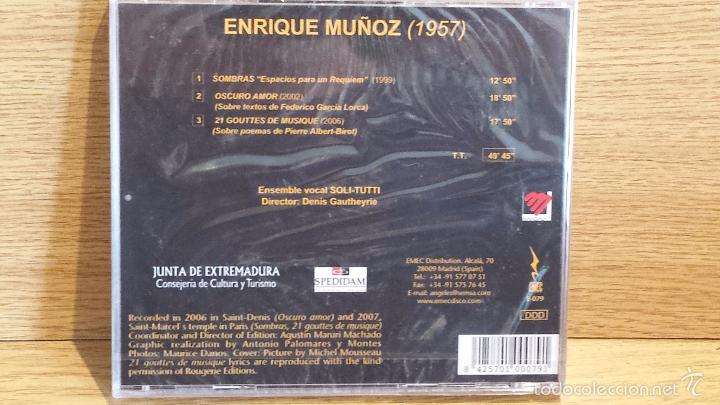 CDs de Música: ENRIQUE MUÑOZ. SPANISH COMPOSERS OF TODAY. SOMBRAS. ESPACIOS PARA UN REQUIEM / PRECINTADO. - Foto 2 - 55355690