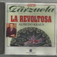 CDs de Música: ALFREDO KRAUS: LA REVOLTOSA / TIEMPO DE ZARZUELA - ALFA DELTA, 1994   MÚSICA DE RUPERTO CHAPÍ. Lote 55527912
