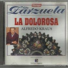 CDs de Música: ALFREDO KRAUS: LA DOLOROSA / TIEMPO DE ZARZUELA - ALFA DELTA, 1994   MÚSICA DE JOSÉ SERRANO SIMEÓN. Lote 55529605