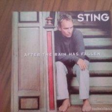 CDs de Música: STING. AFTER THE RAIN HAS FALLEN. CD PROMO EN CARTÓN. BUEN ESTADO. Lote 55692169