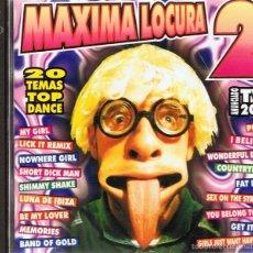 CDs de Música: CD MÁXIMA LOCURA 2 ( 2 CDS). Lote 55703335