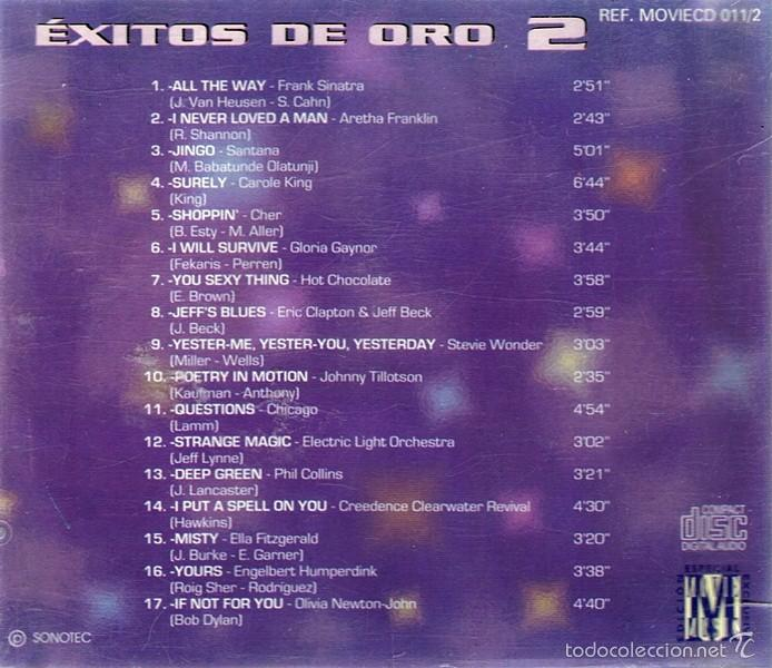 CDs de Música: CD ÉXITOS DE ORO 2 SANTANA - ERIC CLAPTON - GLORIA GAYNOR - Foto 2 - 55703922