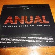 CDs de Música: ANUAL EL ALBUM DANCE DEL AÑO 2016 CD TRIPLE DIGIPACK PRECINTADO TIESTO SCARAMOUCHE CORAL MICAR 3 CD. Lote 55729089