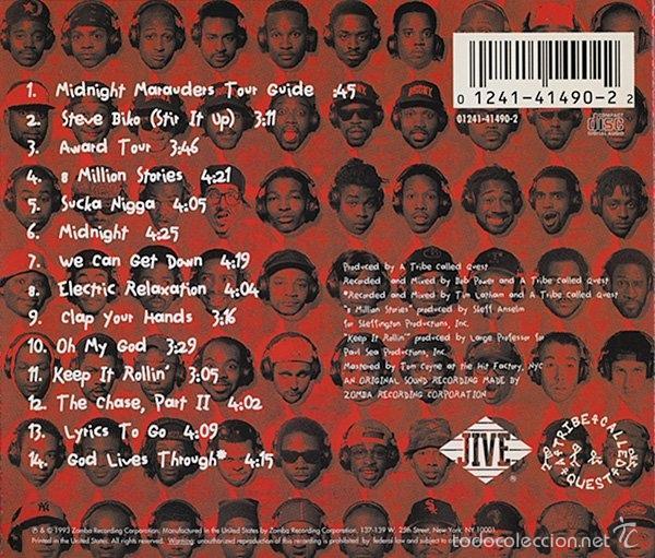 CDs de Música: A Tribe Called Quest-Midnight Marauders-hip hop 90-RARO! - Foto 2 - 55778167