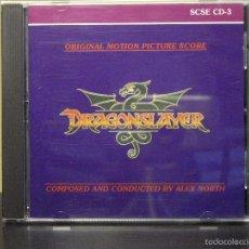 CDs de Música: CD - EL DRAGON DEL LAGO DE FUEGO (DRAGONSLAYER) (ALEX NORTH) (LIMITED EDITION Nº 240/2000) (NM / M). Lote 47500796