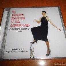 CDs de Música: CLEMENCE LLONIS EL AMOR EXISTE Y LA LIBERTAD POEMAS DE MIGUEL OSCAR MENASSA CD ALBUM PRECINTADO 2015. Lote 55954914