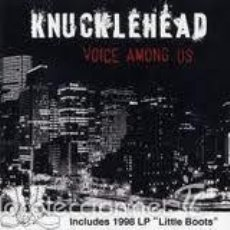 CDs de Música: KNUCKLEHEAD-VOICE AMONG US + LITTLE BOOTS-PUNK OI! SKINHEAD. Lote 55994149