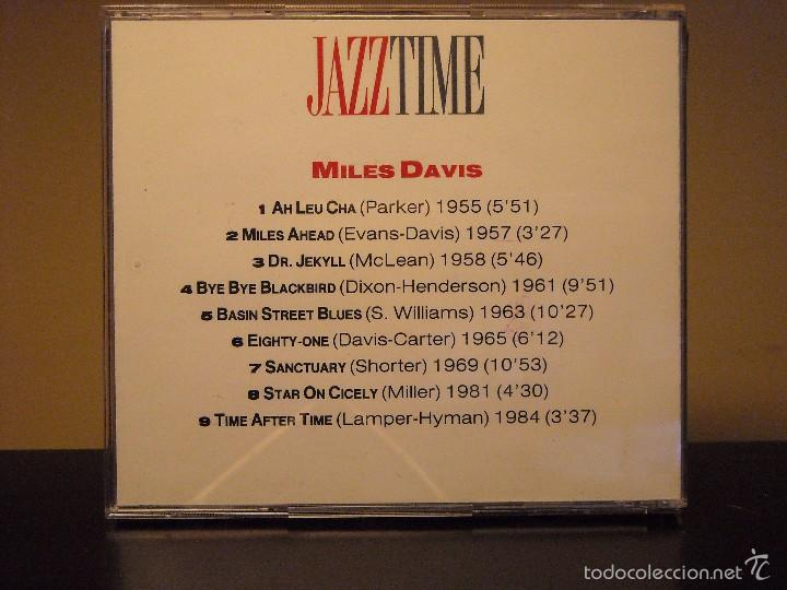 CDs de Música: CD - JAZZ TIME (ORBIS FABBRI) (MILES DAVIS) (NM / NM) - Foto 2 - 56001106