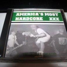 CDs de Música: AMERICA'S MOST HARDCORE XXX RECOPILACION GRUPOS U.S.A.. Lote 56044531