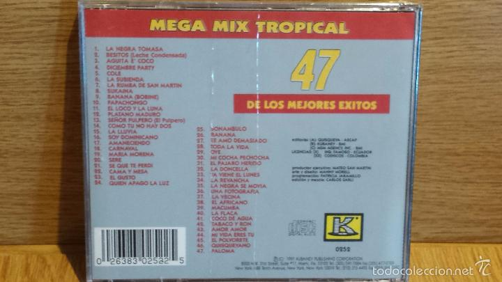 CDs de Música: MEGA MIX TROPICAL. CD / KUBANEY - 1991. LOS 47 MEJORES ÉXITOS. CD - PRECINTADO. - Foto 2 - 56086420