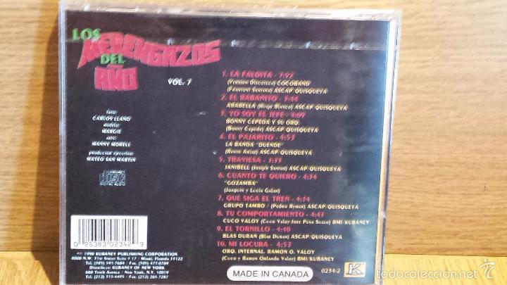 CDs de Música: LOS MERENGAZOS DEL AÑO. VOL. 7 CD / KUBANEY-CANADÁ - 1990. 10 TEMAS / PRECINTADO. - Foto 2 - 58562062