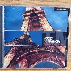 CDs de Música: VOCES DE FRANCIA. THEMUSICOTHEQUE. VARIOS ARTISTAS. CD / 23 TEMAS / CALIDAD LUJO. Lote 56146742