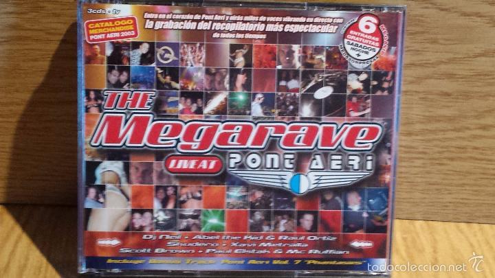 THE MEGARAVE LIVE AT PONT AERI. EL RECOPILATORIO MÁS ESPECTACULAR. 3 X CD / TEMPO MUSIC / LUJO. (Música - CD's Techno)