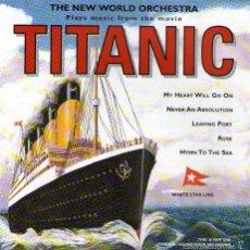 CDs de Música: BANDA SONORA: TITANIC - INTERPRETADA POR THE NEW WORLD ORCHESTRA - CD 15 TRACKS - EMI RECORDS 1998. Lote 56162732