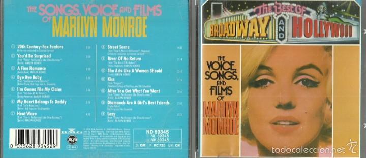 MARILYN MONROE CD SELLO RCA AÑO 1989 EDITADO EN ALEMANIA (Música - CD's World Music)